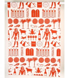 Paño de cocina con impresión del faraón - Ladrillo Rojo