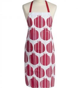 Apron with a Pomegranate Design