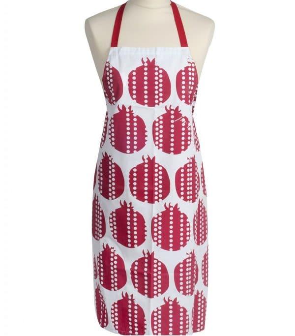 Apron with a Pomegranate Design
