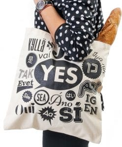 Canvas Tote Bag - Say Yes