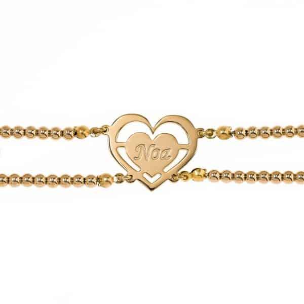 Hebrew Name Bracelet Bracelet with Personalized Engraving
