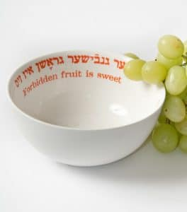 Yiddish Wisdom Bowl by Barbara Shaw-