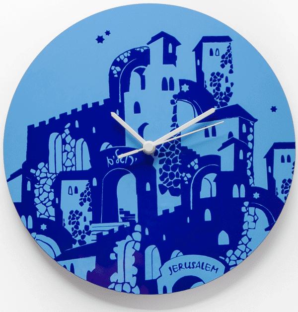 Large Clock - Jerusalem Silhouette