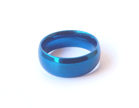 Hebrew Name - Thin Blue Ring