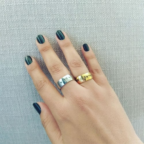 Name Thick Ring with Shiny Gold Coating, Product