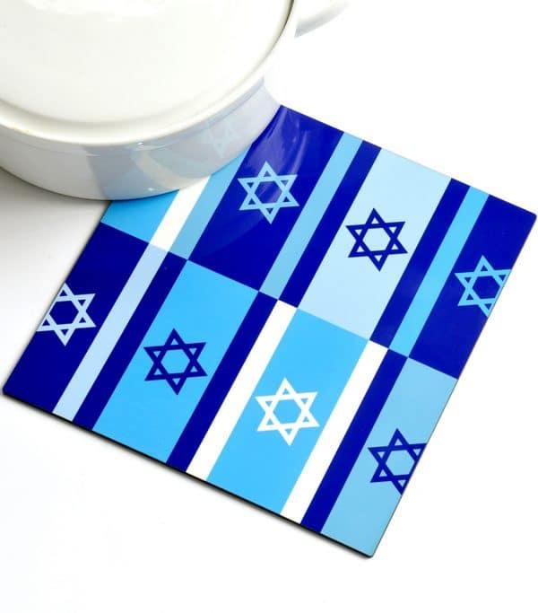 Trivet - Blue Israeli Flags, Product