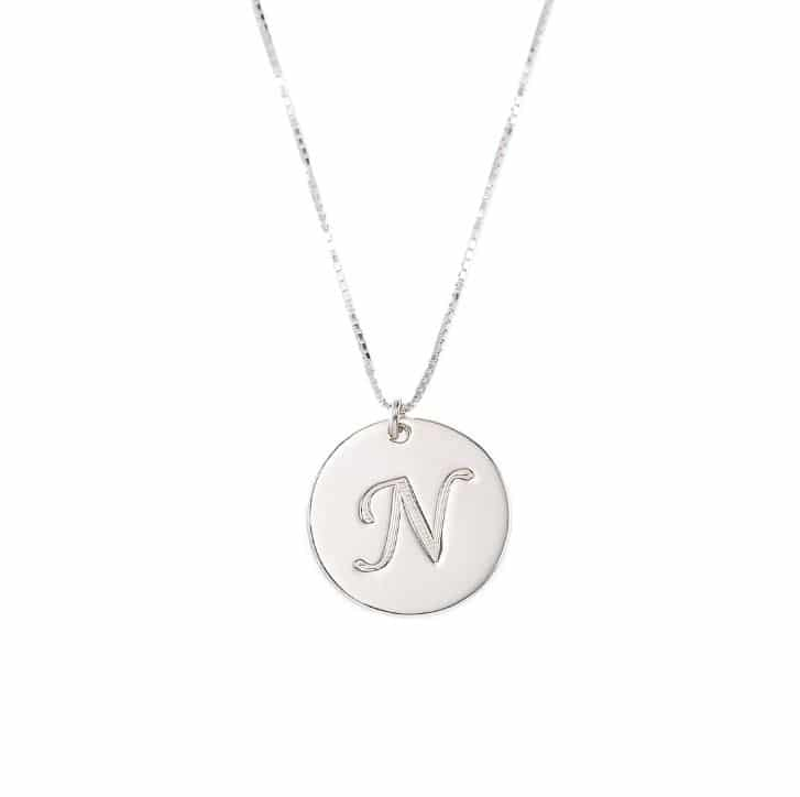 Hebrew Name Necklace - The Circle  - 925 Silver