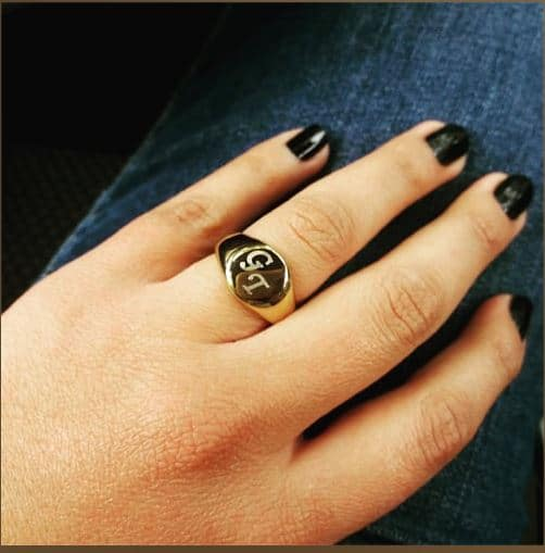 Hebrew Name Fine Round Seal Ring, Product