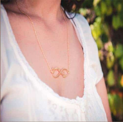 Name Necklace-Infinity-gold plating Necklace with names