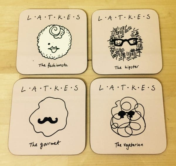 Coasters set of 4 - Chanukah Latkes, Product