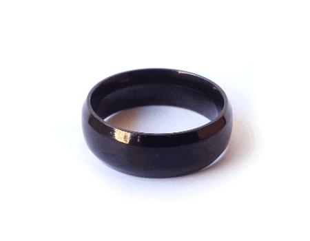 Name Thin Black Ring