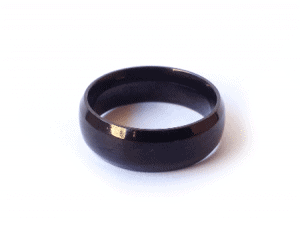 Name Thin Black Ring