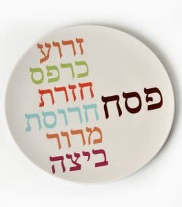 Seder Plate - Bold Words