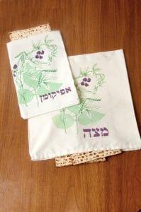 Pessaj Set de Cubiertas Botánicas de Matzá y Afikoman