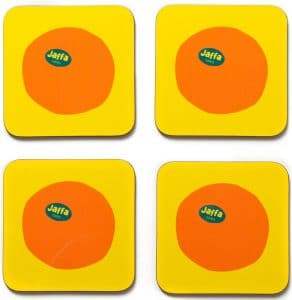 Coasters Set of 4 - Jaffa Oranges