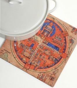 Four Sections Ancient Jerusalem - Trivet