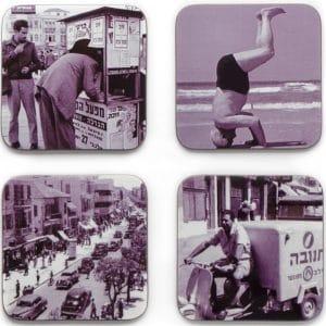 Vintage Israeli Coasters - Set of 4