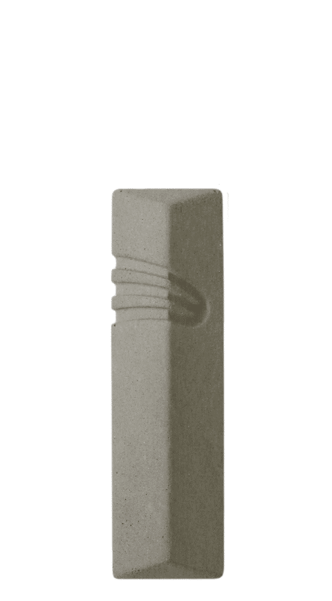 Modern Mezuzah Design the Diagonal ש (Shin) shape letter