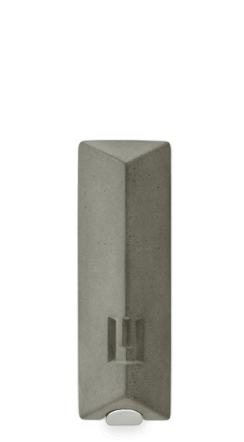 Elegant Morden Mezuzah - Concrete and Metal