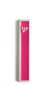 Modern Mezuzah design the classic ש (Shin) letter -Violet