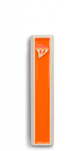 Modern Mezuzah design the classic ש (Shin) letter -Orange