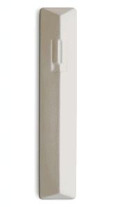 Concrete Modern Mezuzah Geometric ש (Shin) Shape Letter - White