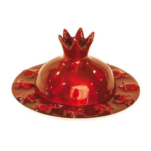 Platillo de Miel - Granada -Pintado - Rojo