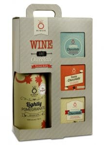 Wine and Chocolate Bars Gift Set