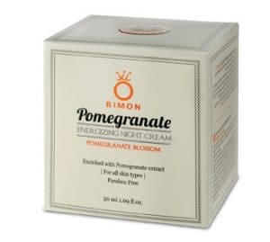 Anti-aging moisturizing cream for the night enriched with  pomegranates - with the fragrance of the pomegranate blossom