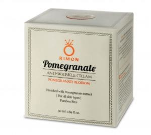 Anti-wrinkle cream enriched with pomegranate extracts