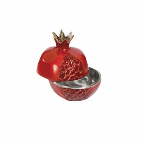 Small Aluminium Pomegranate - Opened - Red