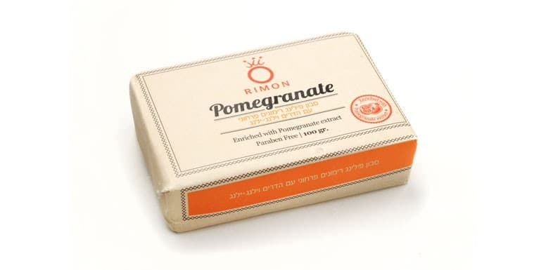 Pomegranate Floral Peeling Soap with citrus and  ylang-ylang citrus