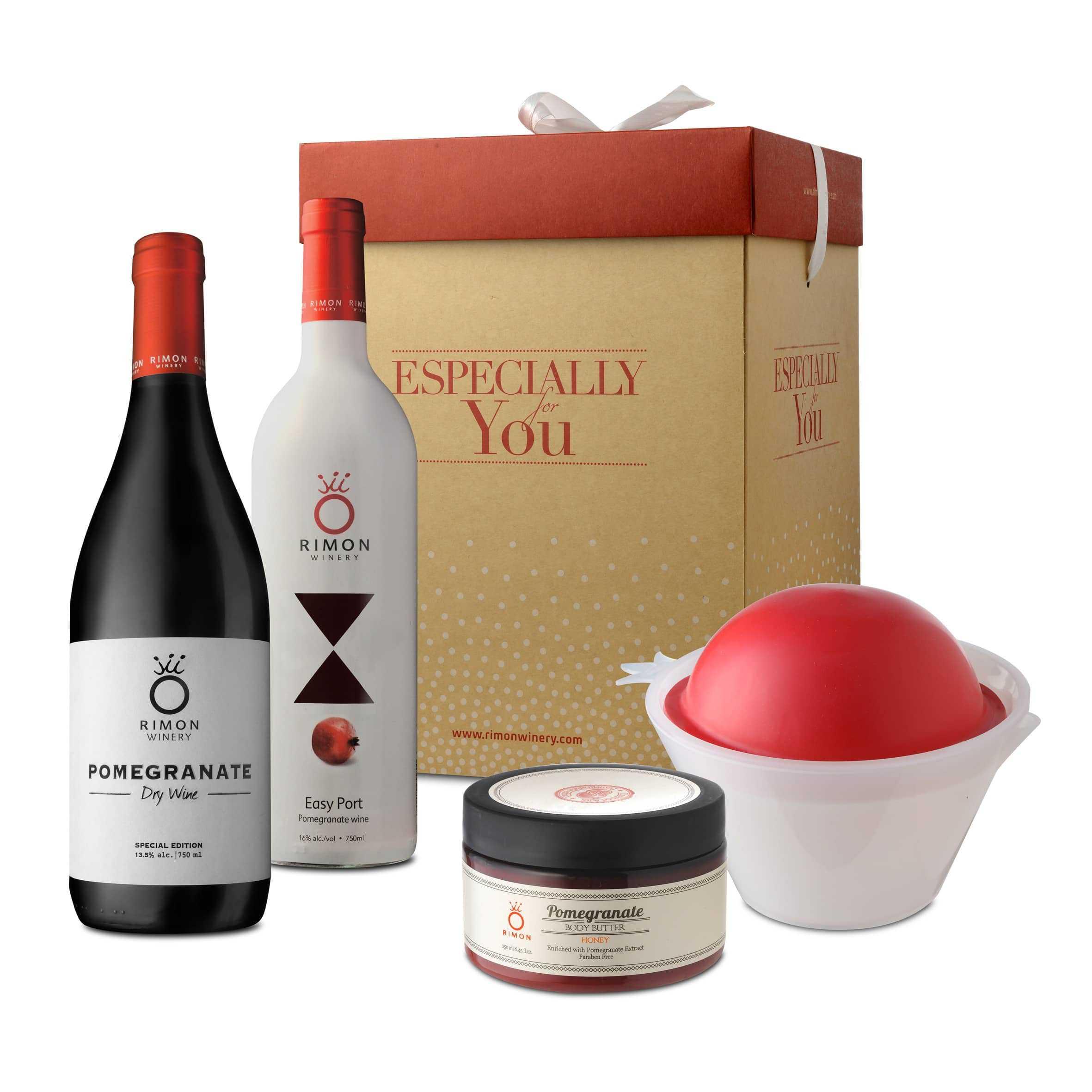 El set de regalo perfecto de vino de granada