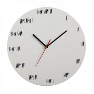 Alcatraz Wall Clock - White