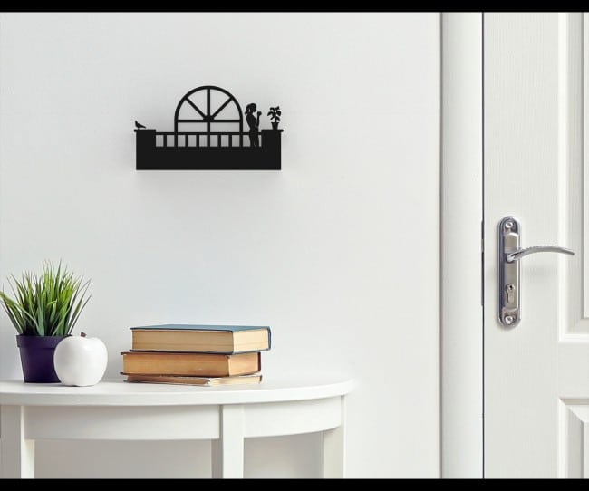 Balcony - Wall mount metal shelf for doorways - Hers - Model B