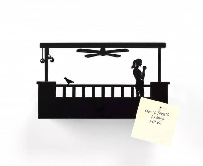 Balcony - Wall mount metal shelf for doorways - Hers - Model A