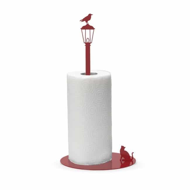 Gato vs. Cuervo - Toallero de papel de cocina de metal // Soportes de rollo de papel