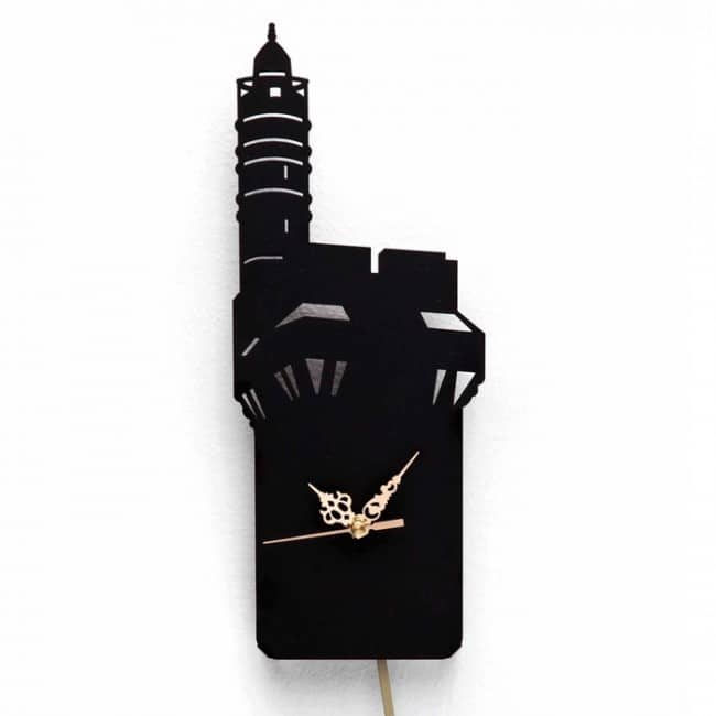 David Tower Wall Clock - Gold hands
