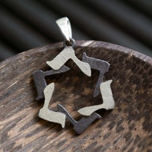 Silver Star of David Necklace - The hebrew letter