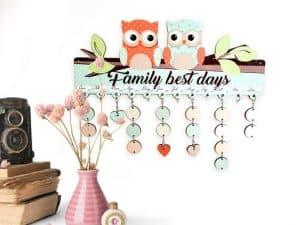Calendario de cumpleaños familiar