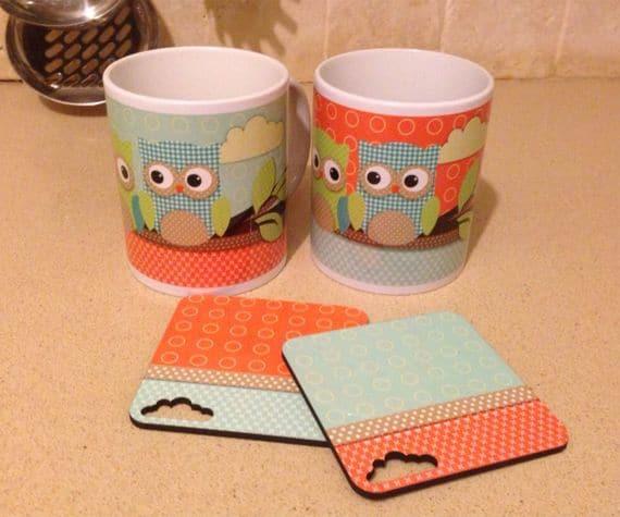Owl Ceramic Cups