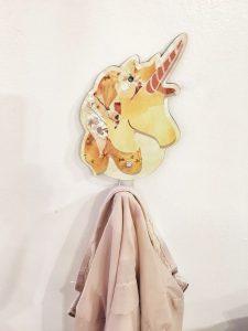 Percha para habitación de niños Unicornio