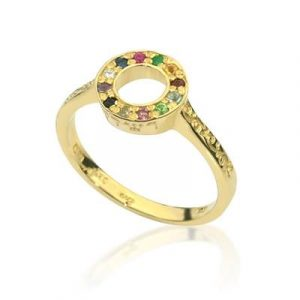 Rachel hoshen ring , made from gold with gemstones