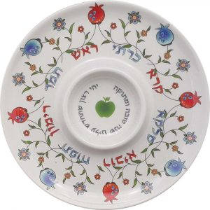 Rosh Hashanah Plate Bamboo Eco-Friendly