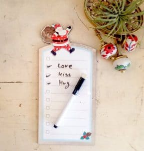 Santa white To Do List board