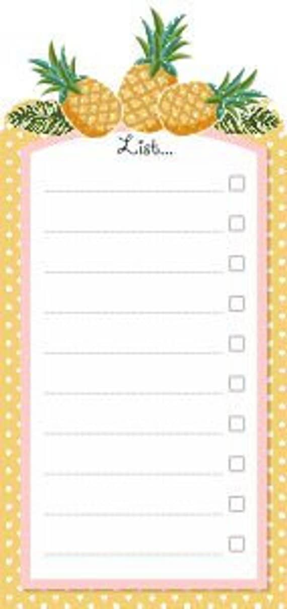 Yellow colored border and Pineapple to do list board