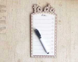 Beige and white dots To do list board