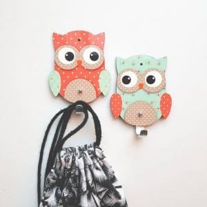 Mint and Coral Owl kids room décor