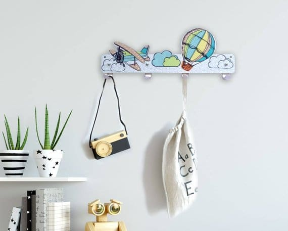 Green and Turquoise air balloon hanger