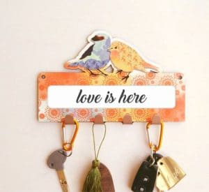 Japanese Textured Birds Key Rack